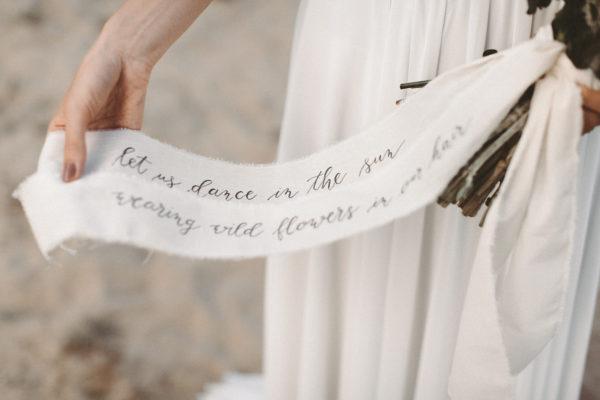 Schriftband Hochzeit