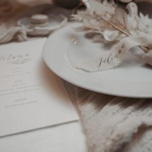 Gastgeschenk Name Schriftband für Hochzeiten und Events